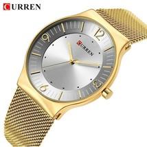 Curren Top Luxury Watch Men Brand Men's Watches Ultra Thin Stainless Steel Mesh - $37.72