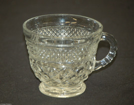 Wexford by Anchor Hocking Glass Punch Coffee Tea Cup Diamond Point Criss-Cross - $8.90