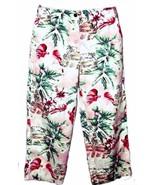 "Van Heusen Hawaiian Cropped Jeans Size 6 or 28X23"" - $8.95"