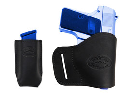 NEW Barsony Black Leather Yaqui Holster + Mag Pouch Astra AMT CZ Mini-Pocket 22 - $44.99
