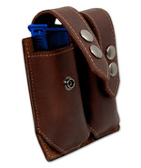 NEW Barsony Brown Leather Dbl Mag Pouch for Ruger, Kel-Tec Mini/Pocket 2... - $38.99