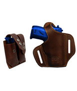NEW Barsony Brown Leather Pancake Gun Holster + Mag Pouch Bersa, Colt 22... - $74.99