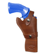 "NEW Barsony Brown Leather Western Style Gun Holster Smith & Wesson 4"" Re... - $79.99"
