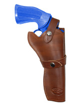 "NEW Barsony Brown Leather Western Style Gun Holster for Ruger 6"" Revolvers - $79.99"