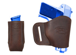 NEW Barsony Brown Leather Yaqui Holster + Mag Pouch Astra AMT CZ Mini-Pocket 22 - $44.99