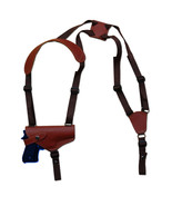 NEW Barsony Horizontal Burgundy Leather Shoulder Holster Smith Wesson Fu... - $64.99