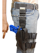 NEW Barsony Tactical Leg Holster w/Mag Pouch CZ, EAA, FEG Full Size 9mm ... - $56.99