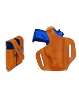 NEW Barsony Tan Leather Pancake Gun Holster + Mag Pouch Bersa, Colt 22 2... - $74.99