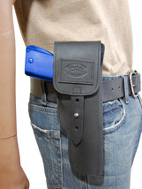 New Barsony Black Leather Flap Gun Holster for Springfield Full Size 9mm 40 45 - $69.99