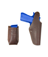 New Barsony Brown Leather Belt OWB Holster + Mag Pouch Kimber Full Size ... - $69.99