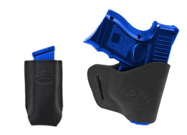 New Barsony Black Leather Yaqui Holster + Mag Pouch SIG SAUER Compact 9mm 40 45 - $44.99