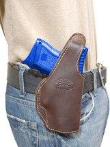 New Barsony Brown Leather OWB Holster Colt, Kimber Compact, Sub-Comp 9mm... - $49.99