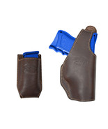 New Barsony Brown Leather OWB Holster + Mag Pouch Springfield Compact 9m... - $69.99