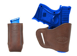 New Barsony Brown Leather Yaqui Holster + Mag Pouch SIG SAUER Compact 9mm 40 45 - $44.99