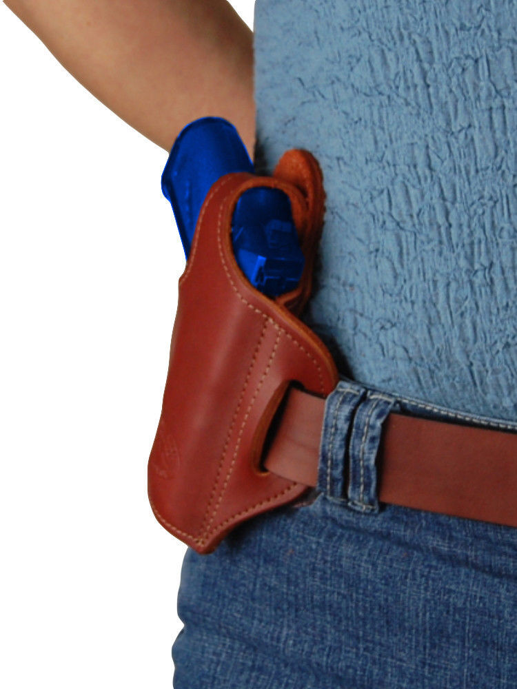 NEW Barsony Burgundy Leather Pancake Gun Holster + Mag Pouch NA Arms Llama 22 25