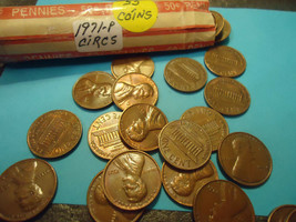 1971-P LINCOLN CENT ROLL     55 COINS     - $2.57