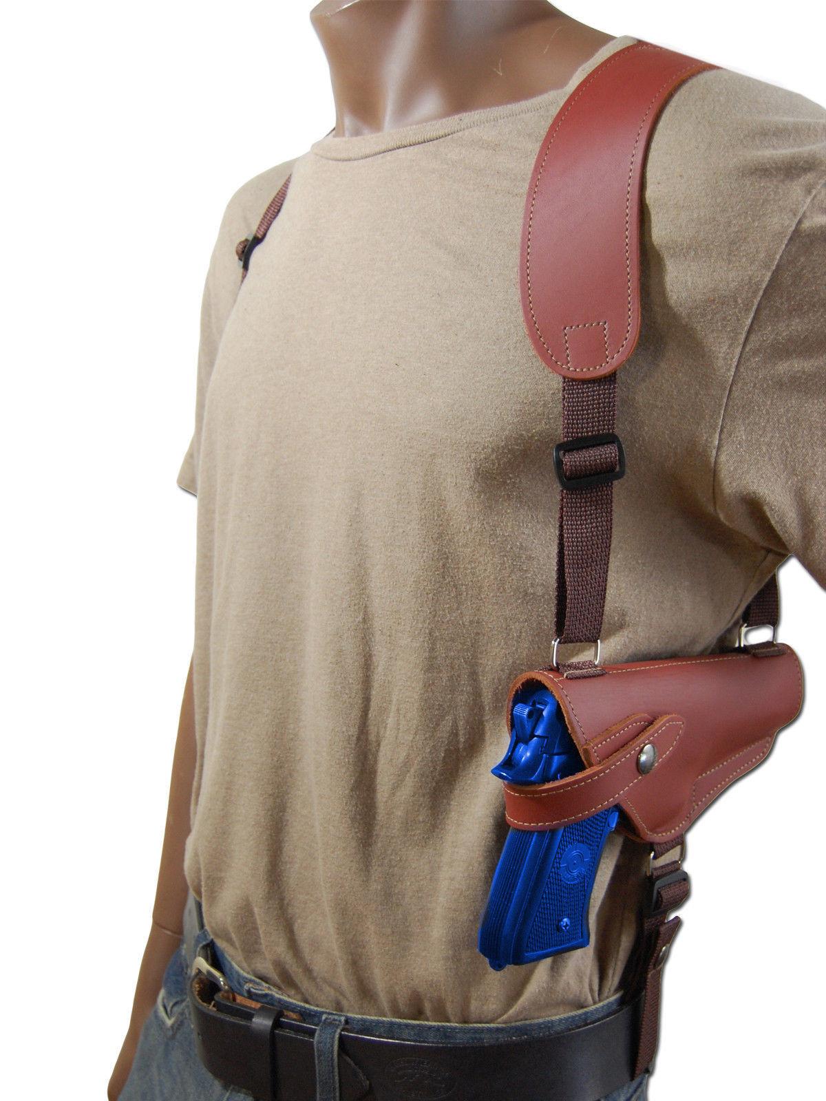 NEW Barsony Horizontal Burgundy Leather Shoulder Holster Smith Wesson Full Size
