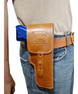 New Barsony Tan Leather Flap Gun Holster for Springfield Full Size 9mm 4... - $69.99