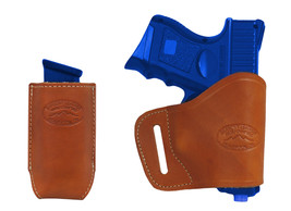 New Barsony Tan Leather Yaqui Holster + Mag Pouch SIG SAUER Compact 9mm 40 45 - $44.99