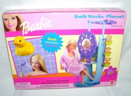 Barbie BATH WORKS PLAYSET w/Duck Powered Shower NEW! 2000 - $49.96