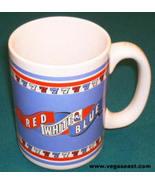 Red White & Blue Slot Machine Las Vegas Slots 7's Coffee Mug 777 - $9.99