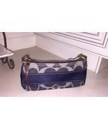 MINT Authentic Women's Coach Blue Denim Signature Handbag, ONLY 1 AVAILA... - $49.90