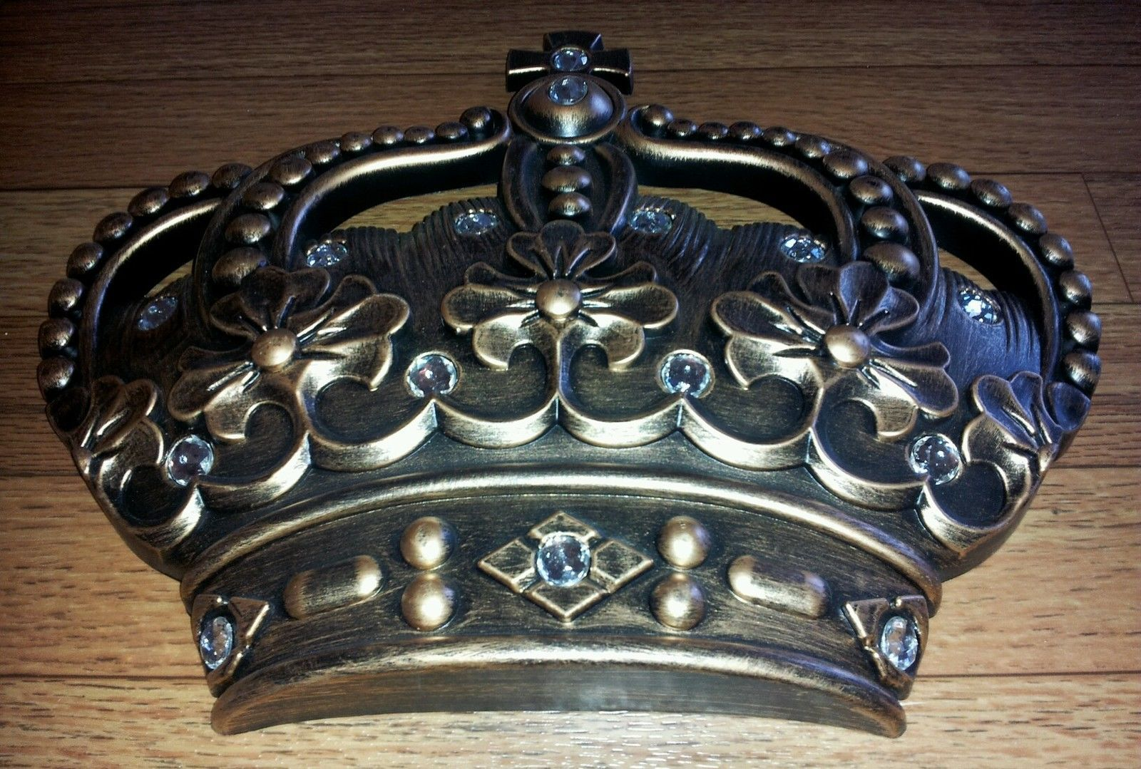 Prince Crown Wall Decoration : New royal jeweled antiqued gold crown wall plaque queen