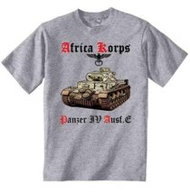 Deutches Africa Korps Panzer Iv Ausf.E - Graphic Grey T-Shirt S [Apparel] - $22.49