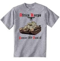 Deutches Africa Korps Panzer Iv Ausf.E - Graphic Grey T-Shirt XXL [Apparel] - $22.49