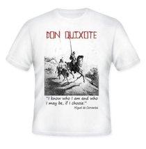 Don Quixote - De Cervantes - Amazing Graphic Quote T-Shirt M [Apparel] - $20.99