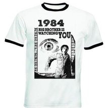 1984 Orwell - New Black Ringer T-Shirt M [Apparel] - $22.49