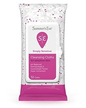 Summer's Eve Cleansing Cloths for Sensitive Skin - 32 ct - 2 pk
