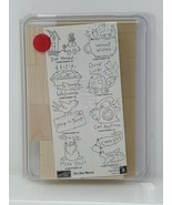 Stampin Up On The Move WM Stamp Set Coffee Turtle Bird Mail Occasions Va... - $26.72