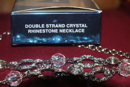 AVON DOUBLE STRAND CRYSTAL RHINESTONE NECKLACE NEW in Box - $18.90