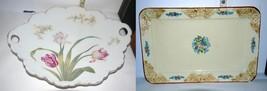 Vintage Rosenthal Malmaison Porcelain Scalloped Platter & Maruhon Ware P... - $16.46
