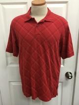 Izod Polo Sz L Shirt Red Mens 100% Cotton  - $10.64