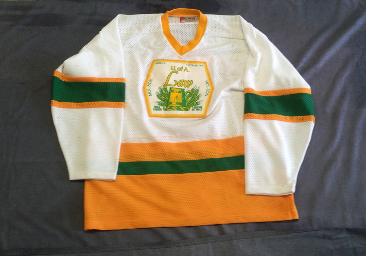 Primary image for Rare - Univeristy of Alberta Hockey Jersey - Law  Association - Molson Logo