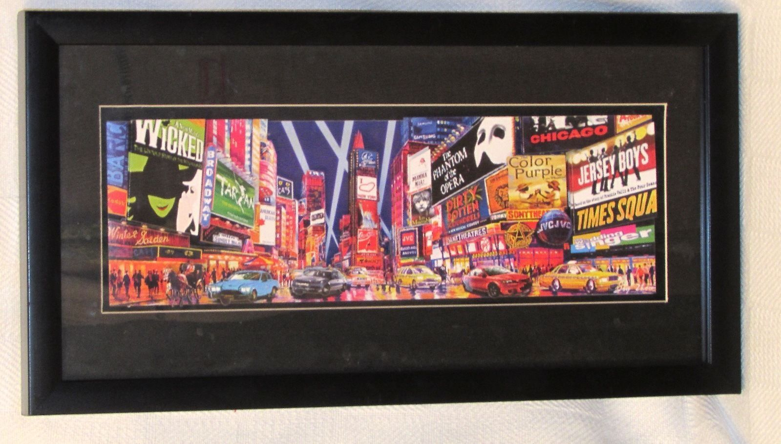 3D Paper-cut Art Times Square NY Theatre District 17 x 9