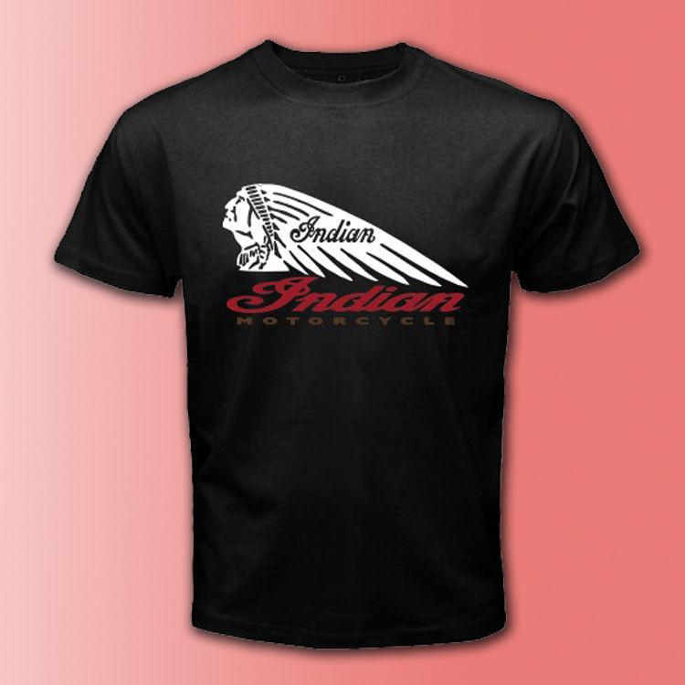 Indian motorcycle american brand logo clasic black t shirt for T shirt brand logo