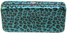 Nicole Lee Women's Teal Animal Multi-Color Print Vinyl Wallet Clutch Organizer