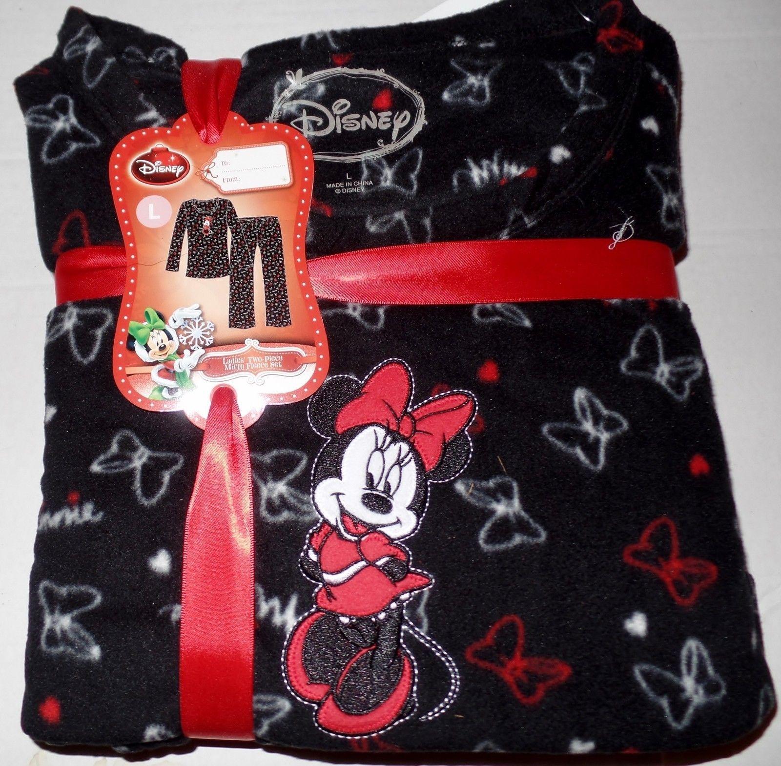 NWT Womens Disney Mickey Minnie 2 pc Med X-mas Valentines Pajama Set  sz