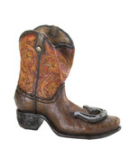 Bottle Holder decorated cowboy boot with lucky ... - $19.29