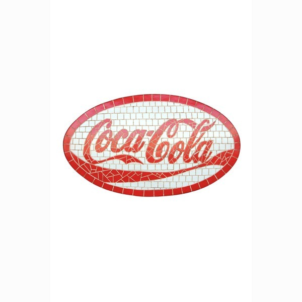 coca cola coke sign looks like mosaic wall plaque decor display sign signs. Black Bedroom Furniture Sets. Home Design Ideas