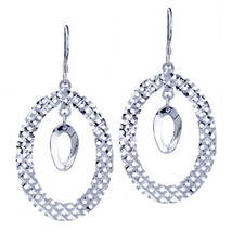 Pugster Double Round Pattern Earrings 925 Sterling Silver - $38.33