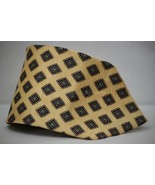 Randall Publishing Men's 100% Silk Necktie Gold Blue Brown Diamond Red NWOT - $4.99