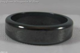 High Powered Magnetic Hematite Flat Smooth Ring size 13 - $11.95