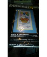 """NEW DIMENSIONS   STAMPED CROSS STITCH """"BELIEVE IN YOUR DREAMS"""" - $13.09"""