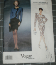 Vogue 1065 Paris Original Emanuel Ungaro Pattern Evening Suit size 6 8 1... - $24.00