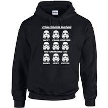 228 Storm Trooper Emotions Hoodie star geek dark side sith wars All Sizes/Colors - $30.00