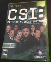 CSI: Crime Scene Investigation (Xbox, 2004 )Tested! Works! - $4.95